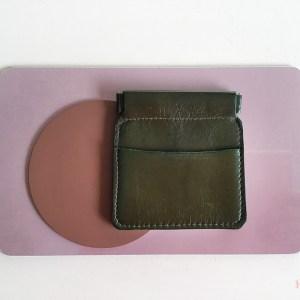 porte-monnaie-clic-clac-kaki CDA Petites Choses