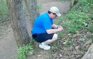 Crazy Dave finding first geocache