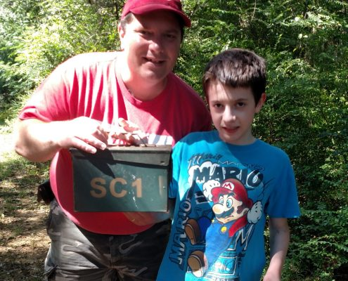 get out of geocaching, Crazy Dave and Little Dave Geocaching, geocaching
