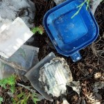destroyed container, shouldn't be in a geocache