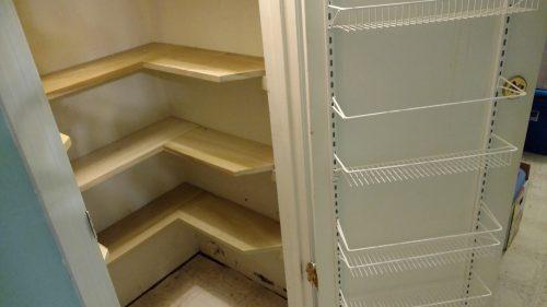 Finished Closet Shelving