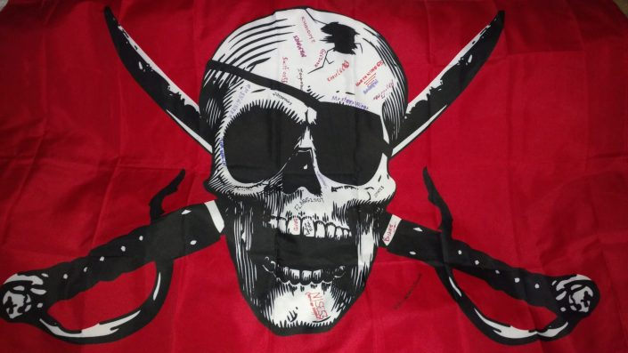 Jolly Roger log, geocaching event