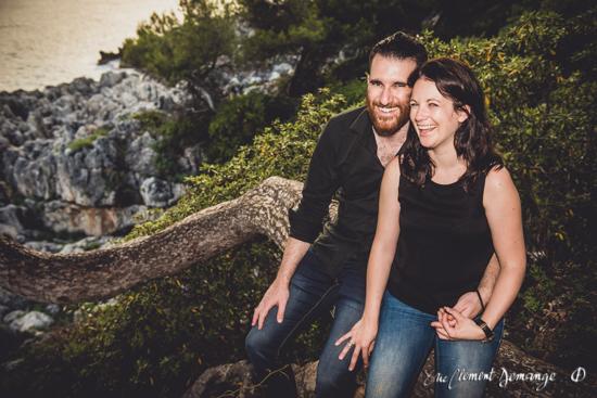 Séance photo d'engagement Cap-Martin