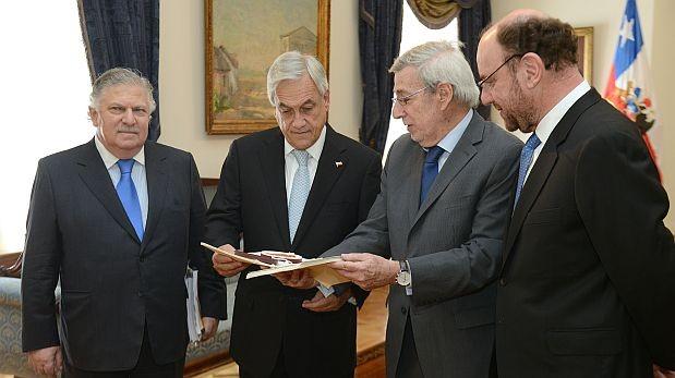 El presidente chileno Sebastián Piñera recibió hoy el fallo de La Haya. (Foto: Presidencia de Chile)
