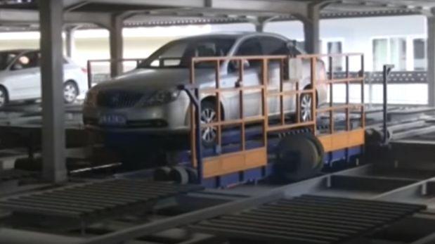 Así funcionan los aparcamientos robotizados de China [VIDEO]
