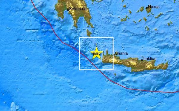 Sismo de 6,2 grados sacudió la isla griega de Creta