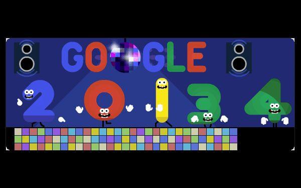 El 'doodle' de hoy de Google, en vísperas del 2014.