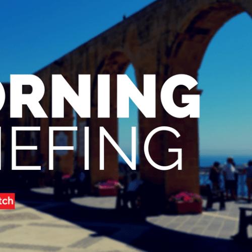 Thursday's Morning Briefing – 24th May, 2018