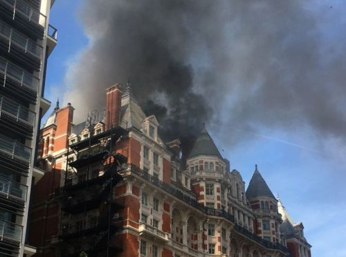 Blaze at the Mandarin Oriental Hotel in London