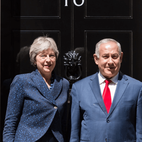 May expresses concern about loss of Palestinian lives in meeting with Netanyahu
