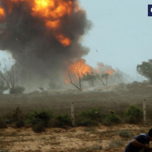 250 left dead after Libyan air-war