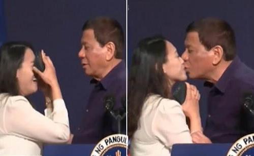"Duterte ends Seoul tour with ""misogynistic"" kiss"
