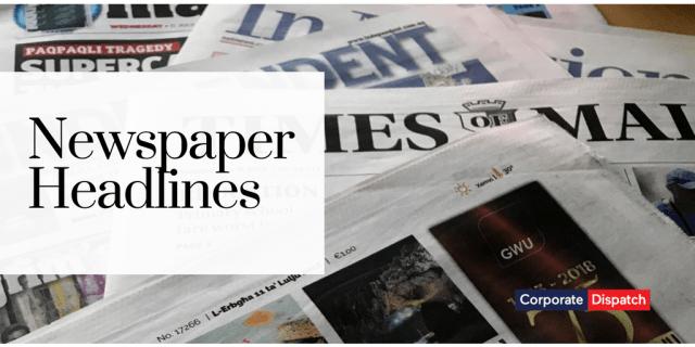 Newspaper Headlines Malta