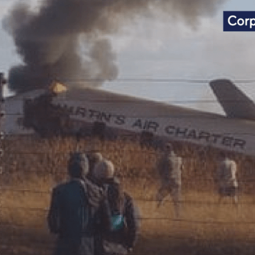 South Africa plane crash leaves one dead