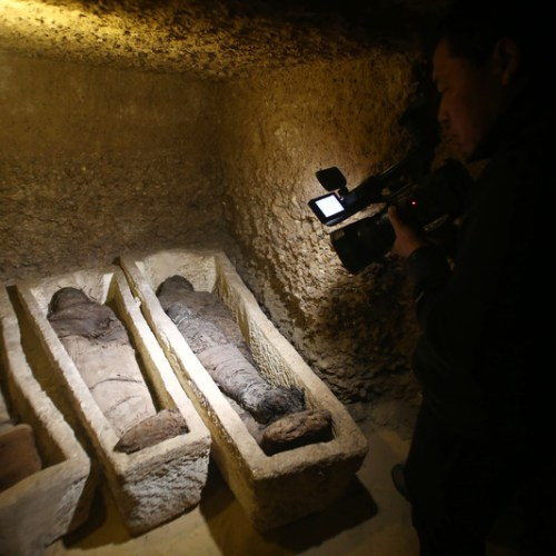Egypt uncovers ancient burial site of 50 mummies