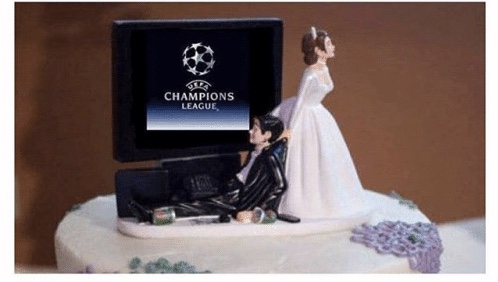 Champions League anthem takes centre stage during wedding (VIDEO)