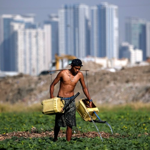 Photo Story – El Nino causes low water supply  in Philippines
