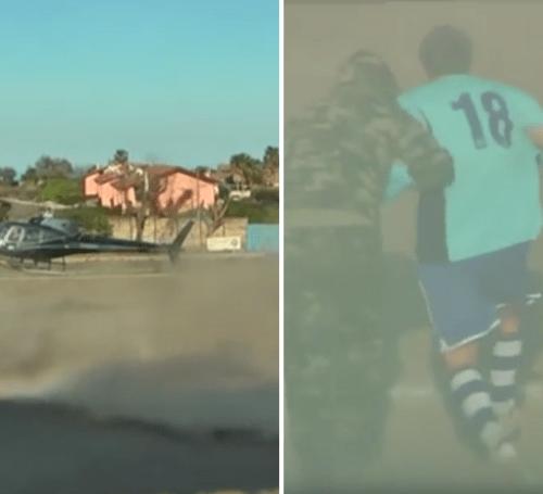 Italian footballer 'kidnapped' mid-match