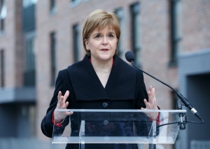First Minister and SNP Leader Nicola Sturgeon Charles Rennie Mackintosh statue Brexit