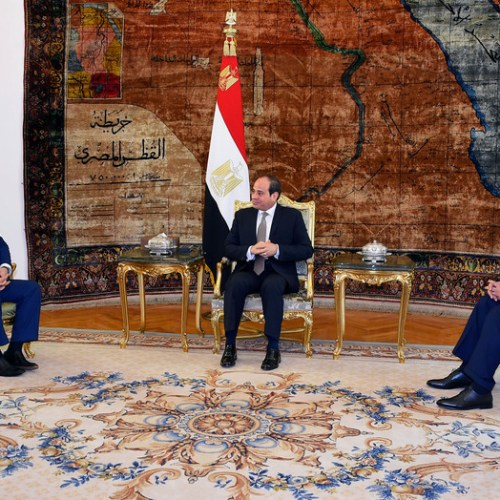 Egyptian President Sisi meets Libyan commander Haftar in Cairo