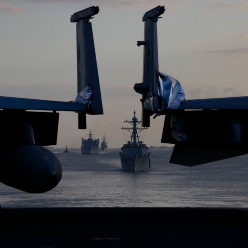 Photostory: The USS Abraham Lincoln Carrier Strike Group leaves the Mediterranean