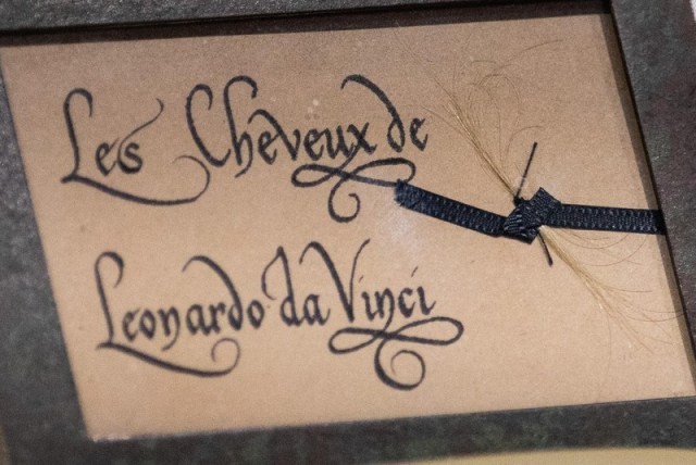 Leonardo da Vinci hair relic exhibited in Vinci