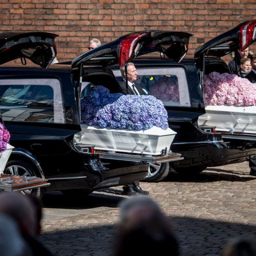 Funeral service for the three children of Asos owner, who were killed in Sri Lanka terror attack held