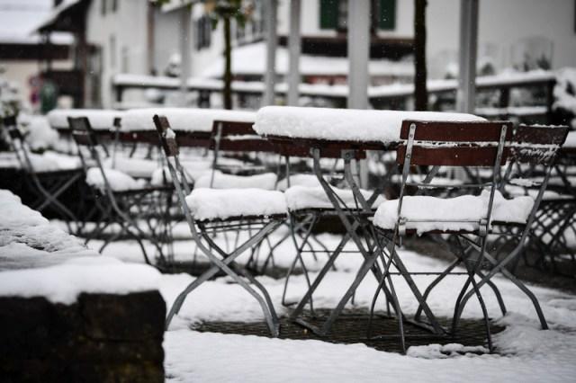 Snow hits Bavaria