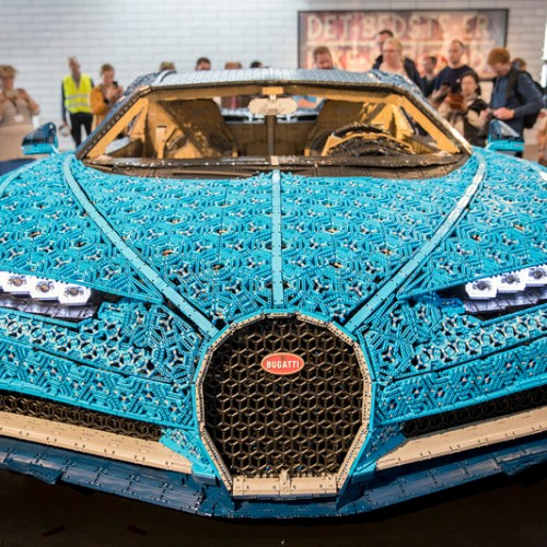 Photo Story: World's first real Lego car with engine – Bugatti