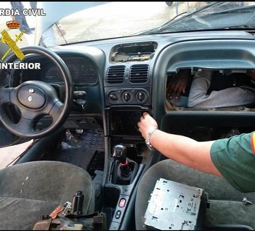 Person found hiding in car glove box in migration attempt to Spain