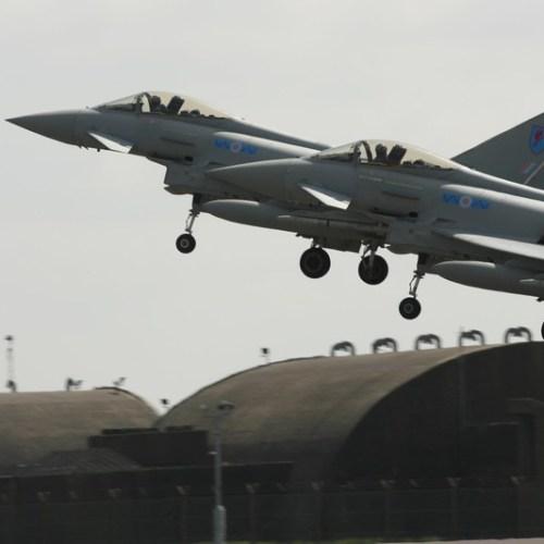 RAF Typhoons intercept Russian aircraft over the Baltic coast