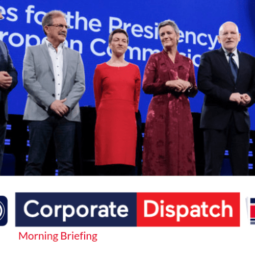 Corporate Dispatch Morning Briefing – Thursday 16th May 2019