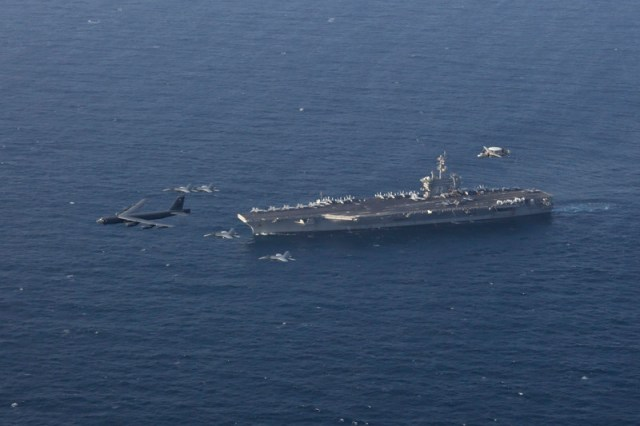 Abraham Lincoln Carrier Strike Group in the Arabian Sea