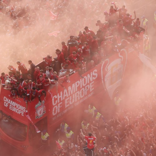 Liverpool parade sixth Champions League trophy