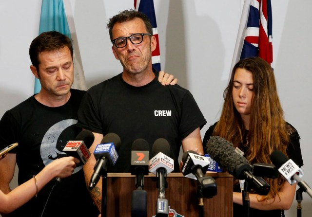 Father of missing Belgian backpacker Theo Hayez speaks to the press