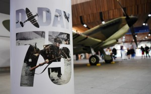 Spitfire at London Bridge station to commemorate 75th anniversay of D-Day