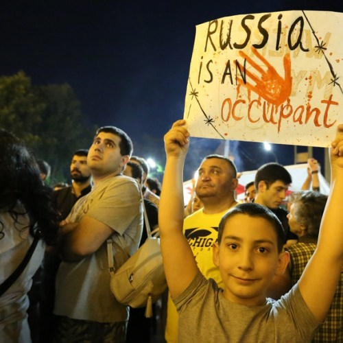 Russia suspends flights to Georgia, more protests in Tbilisi