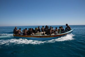 African migrants rescued by Libyan coastguard