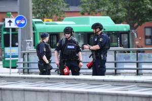 Police shot a man at a train station in Malmo