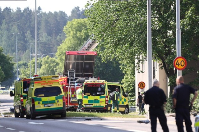 Suspected explosion damages buildings in Swedish town of Linkoping