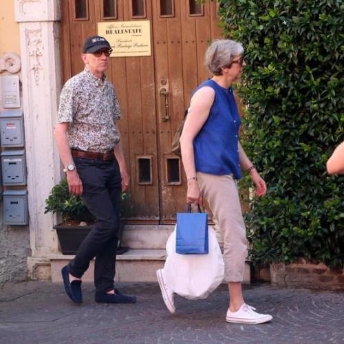 Photo Story: Theresa May on holiday in Italy