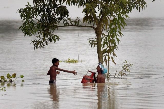 Monsoon floods in Assam