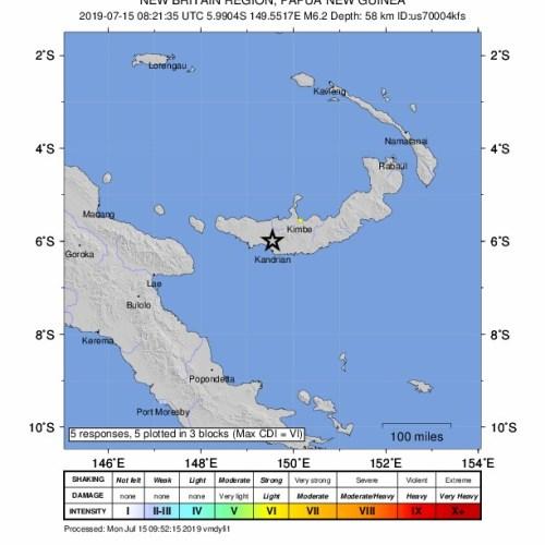6.4 earthquake off Papua New Guinea