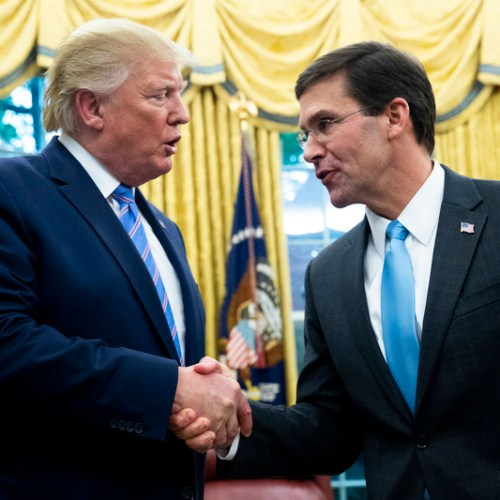 Photo Story: Mark Esper sworn in as Trump's new defence secretary