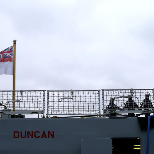 HMS Duncan arrives in the Gulf