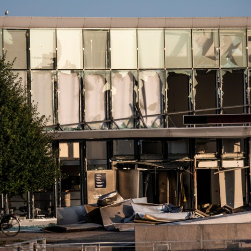 Explosion in front of the Danish Tax Agency