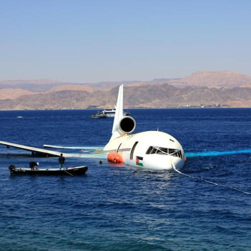 Photo Story: Plane to be used as artificial diving site in Jordan