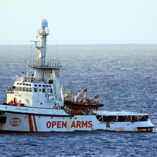 Open Arms enters Italian waters outside Lampedusa