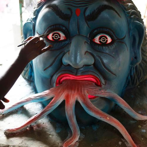 Photo Story: Durga Puja festival preparations in Dhaka