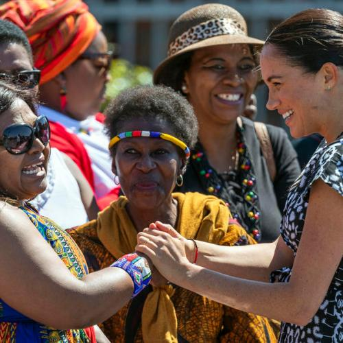 Harry and Meghan make 1st official tour as family in Africa